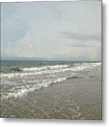 Ocean Waves At Sunrise Metal Print