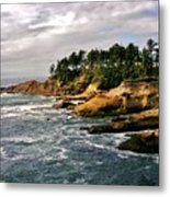 Oceanside - Depoe Bay Metal Print