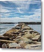Oceanside Jetty Metal Print