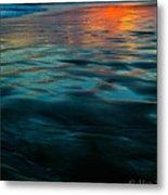 Oceanside Reflective Sunset Metal Print