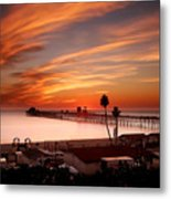 Oceanside Sunset 10 Metal Print by Larry Marshall