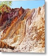 Ochre Pits Colours, West Mcdonald Ranges Metal Print