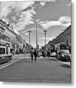 O'connell Street In Dublin Metal Print