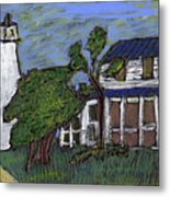 Ocracoke Island Light House Metal Print