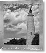 Ocracoke Island Lighthouse Poster Metal Print
