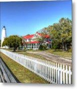 Ocracoke Lighthouse, Ocracoke Island, Nc Metal Print