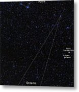 Octans, Apus, South Celestial Pole Metal Print