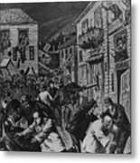 October 31, 1880 Anti-chinese Riot Metal Print by Everett