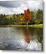 October Brisk Waterscape Metal Print