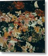 October Flowers By Night Metal Print