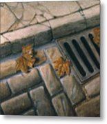 October Leaves Metal Print