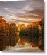 October Lights Metal Print