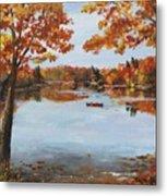 October Morn At Walden Pond Metal Print