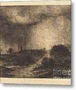 October Rain: Posuclos In The Guardarramas, Near Madrid Metal Print