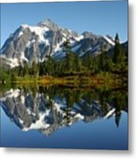 October Reflection Metal Print by Winston Rockwell