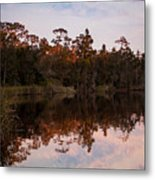 October Reflections On The River Metal Print