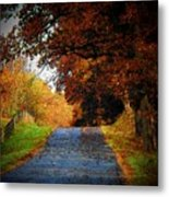 October Road Metal Print by Joyce Kimble Smith