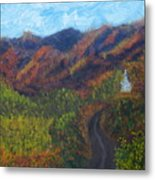 October Road To Home Metal Print