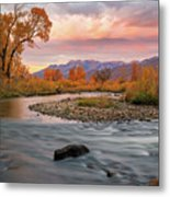 October Sunrise At The Provo River. Metal Print