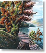 October Visiting Stanley Park Bc Metal Print