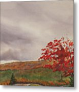 October Wind Metal Print