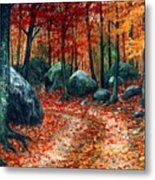 October Woodland Metal Print