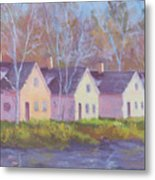 October's Light On Peanut Row Metal Print