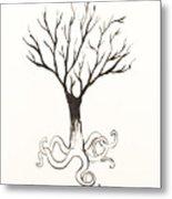Octopus Tree Metal Print