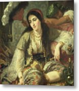 Odalisque Metal Print by Jean Baptiste Ange Tissier