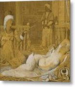 Odalisque With Slave Metal Print