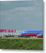 Odd Couple Delta Airlines Southwest Airlines Art Metal Print