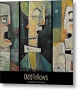 Odd Fellows Triptych Metal Print