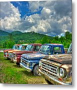 Odd Man Out Fords And Friend  Metal Print