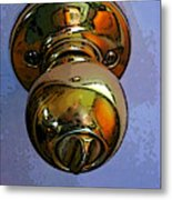 Ode To A Doorknob Metal Print