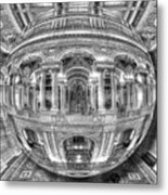 Ode To Mc Escher Library Of Congress Orb Horrizontal Metal Print