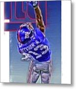 Odell Beckham Jr New York Giants Oil Art 2 Metal Print