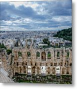 Odeon Of Herodes Atticus - Athens Greece Metal Print