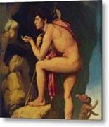 Oedipus And The Sphinx 1808 Metal Print
