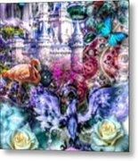 Of Phoenix And Rose Metal Print
