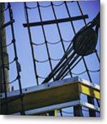 Of Rope And Wood Metal Print