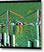 Of Time And The Savannah River Bridge Metal Print