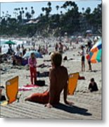 Off Duty Lifeguard Metal Print