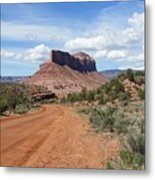 Off Road On The Red Rock Metal Print