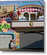 Off Season Boardwalk Metal Print
