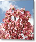 Office Art Prints Blue Sky Pink Dogwood Flowering 7 Giclee Prints Baslee Troutman Metal Print