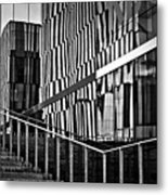 Office Buildings Reflections Metal Print