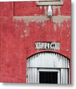 Office Door - Architecture Metal Print