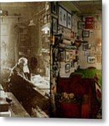 Office - Ole Tobias Olsen 1900 - Side By Side Metal Print