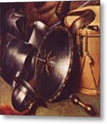 Officer Of The Marksman Society In Leiden Detail Metal Print