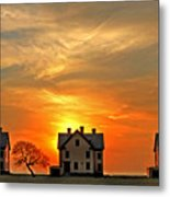 Officer's Row At Sunset Metal Print